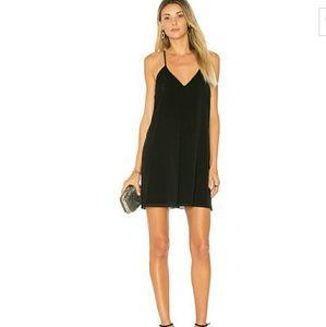 Alice + Olivia Fierra Little Black Chiffon Dress